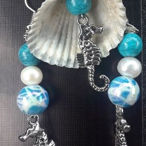 Seahorse Dreams necklace and earring set